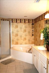Master Bath with Garden Tub and Separate Shower. Double Sinks with Large Mirror