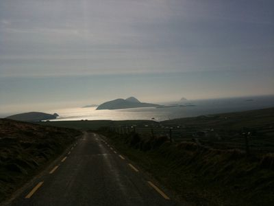 The road over the mountain that leads to Dunquin