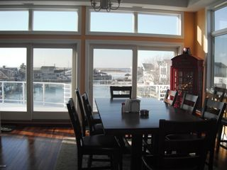Beach Haven house photo - Dining Table has 10 chairs (2 not pictured) - notice the view!