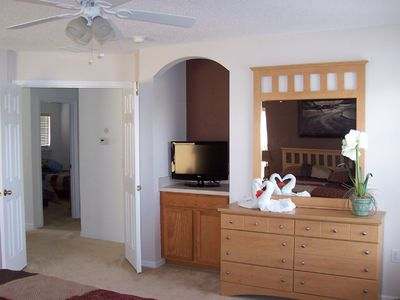 Haines City villa rental - The new, 26' LCD tv in the Master bedroom