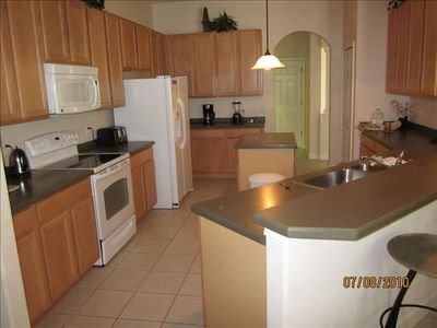 Large, modern fully equipped kitchen