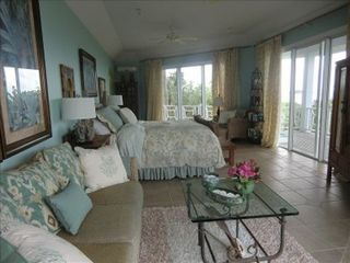 Little Exuma estate photo - Main House Master Bedroom. Has full ocean view!