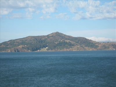Sausalito apartment rental - from the deck- Angel Is.