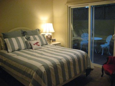 Morro Bay house rental - Third bedroom with private outside patio