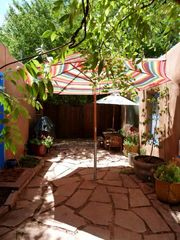 Santa Fe house photo - Flagstone patio in rear
