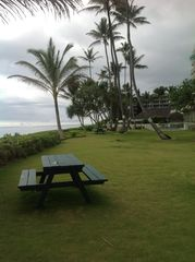 Punaluu cottage photo - Our lawn outside to beach