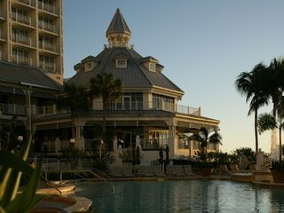 Fort Myers condo photo - Poolside at Dusk #1