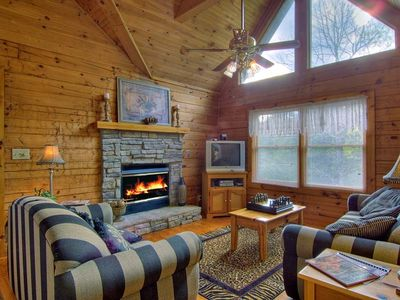 Cozy up to the fireplace and watch a movie