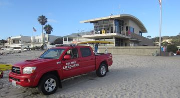 The new Del Mar Lifeguard Department Safety Center is across the street