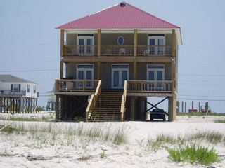 Dauphin Island house photo - View of Survivor from the water side with the Gulf