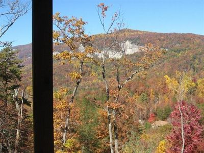 Fall mountain view from deck