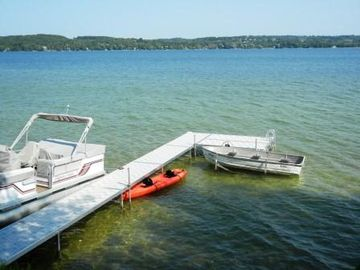 Dock, rowboat, and kayak for your use. Room for your boat at the end of the dock