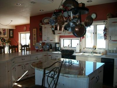 Kitchen with granite island, fully loaded for great entertaining