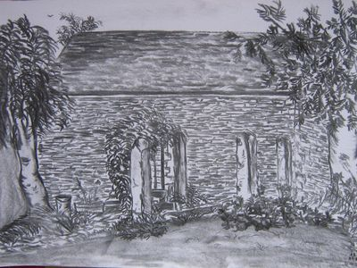 Tavistock barn rental - Guest's drawing of the Barn