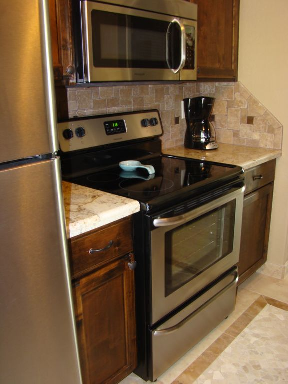 Check out our new stainless steel appliances!