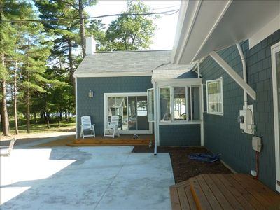 East Tawas cottage rental - Courtyard/Decks/Back Entrance