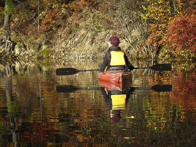 Fall kayak ride to the upper ponds.