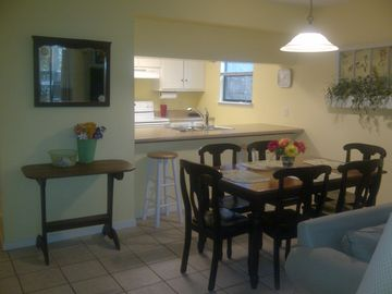 Large dining area and fully furnished, new kitchen.