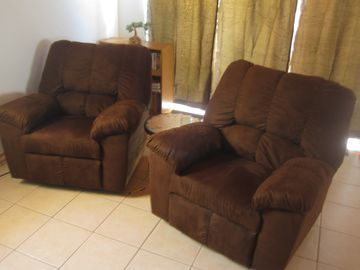 Recliners-a great place to relax in the evenings.