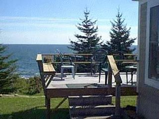 Pemaquid Point cottage photo - Your Deck on the ocean