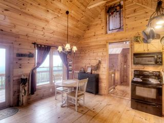 Ellijay cabin photo - Dinette with a great view of the mountains