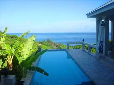 Montserrat villa rental - Inis Ealu - your view from the master bedroom.