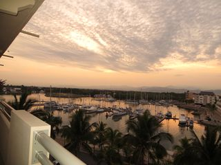 Nuevo Vallarta condo photo - Sunrise view from harbour side balcony. Mountain views are stunning.