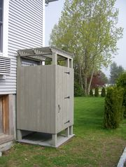 Westerly condo photo - Heated outdoor shower