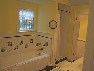 Middletown house photo - Master Bathroom with a door to the Gardens.