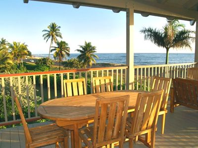 Ocean side dining anytime you wish without ever leaving home!