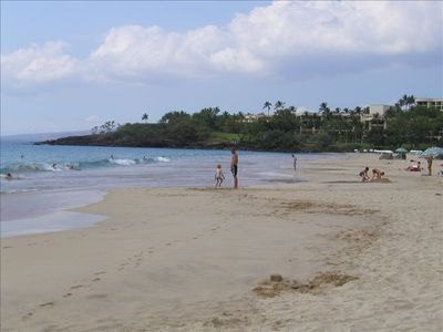 Hapuna State Beach, about 30 miles north of Kona