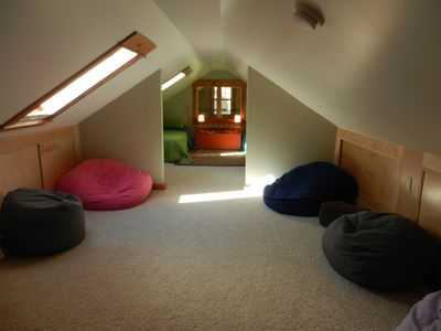 Upstairs bean bag filled play area