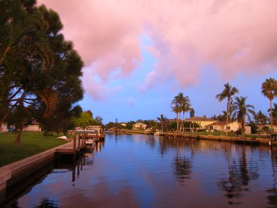 Bonita Springs house rental - Canal View from the dock