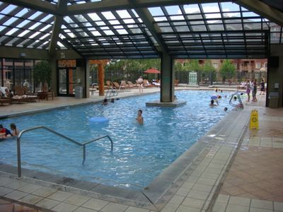 Indoor/Outdoor Pool; largest in state, 2 hot tubs, steam room, sauna, ping pong