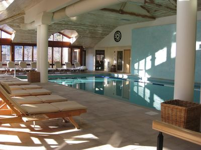 Indoor pool complex at Topnotch (resort access fee applies)