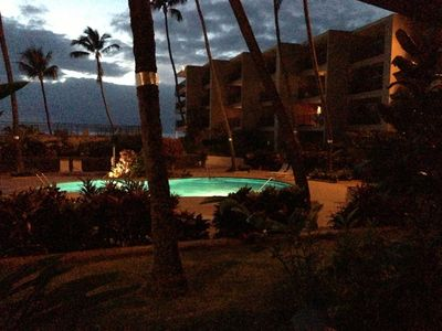 Night time at Hale Ono Loa from our lanai
