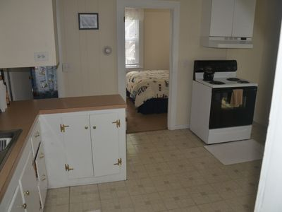 West Yarmouth house rental - full kitchen eat in enclosed area and open porch with views full tile bath
