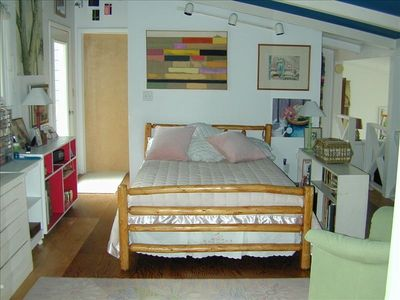 Elk Rapids house rental - Third bedroom with double bed upstairs