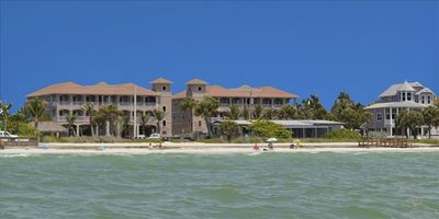 View of White Cap Beach Condos from the Gulf of Mexico right out front