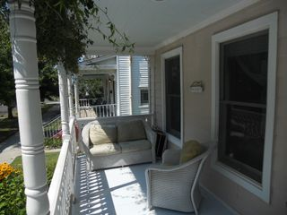 Cape Charles house photo - Sun dappled front porch, perfect for people watching or just relaxing