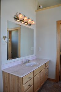 Middletown house rental - Master bath sink area