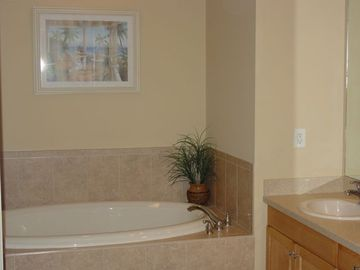 Master Bathroom with tub,separate shower stall and water closet