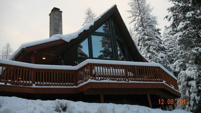 Winter photo of Chalet.
