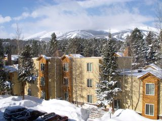 Breckenridge condo photo - Front, exterior renovation, Ski Mountain in background