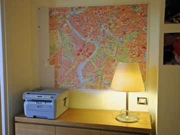 street map of Rome Center, printer, scanner