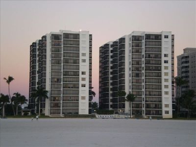 Island Winds Condominiums from the beach