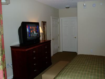 Master Bedroom Dresser & large screen TV.