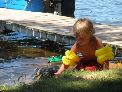Tawas lodge rental - Water fun for little ones