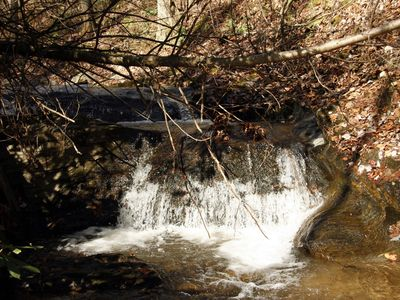 West Jefferson house rental - Waterfalls walking distance from the Farmhouse.