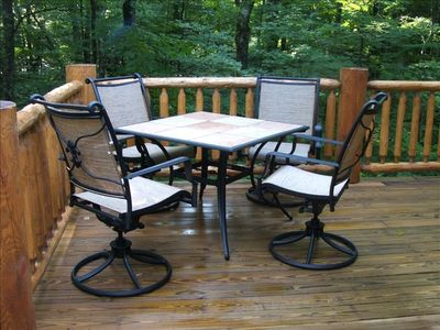 Swivel rocking chairs are perfect for relaxation or outside dining